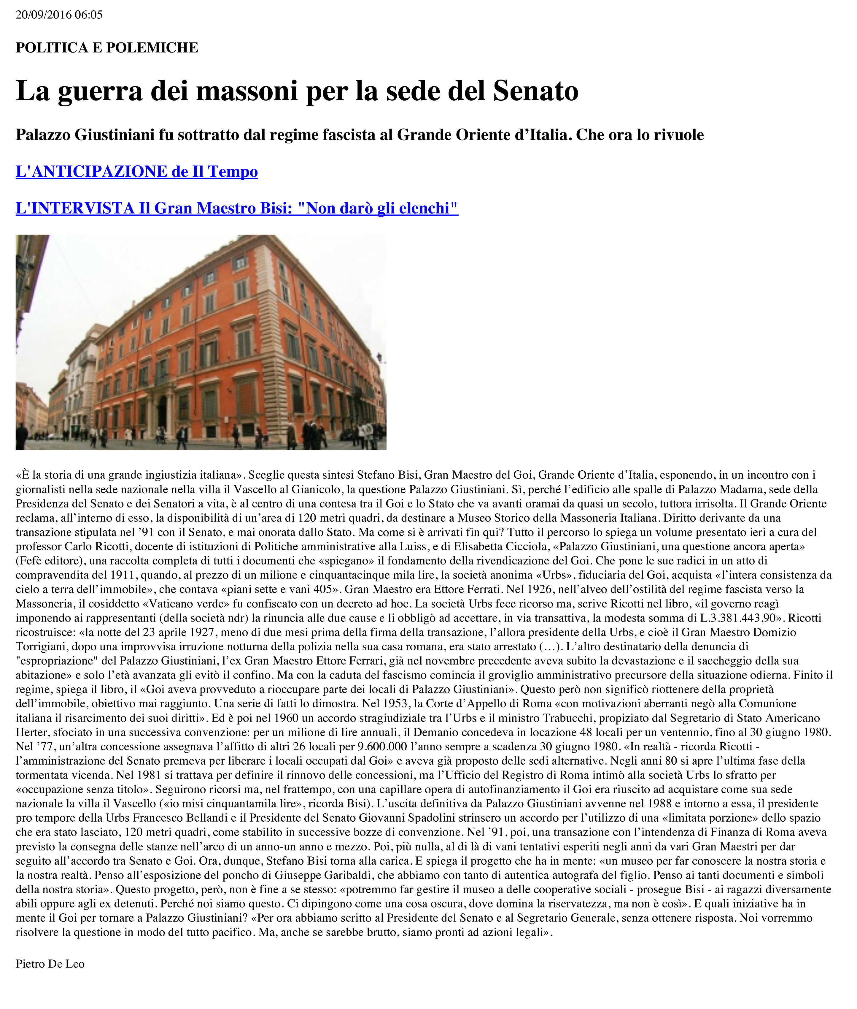 Fefè Editore Palazzo Giustinianiuna questione ancora aperta